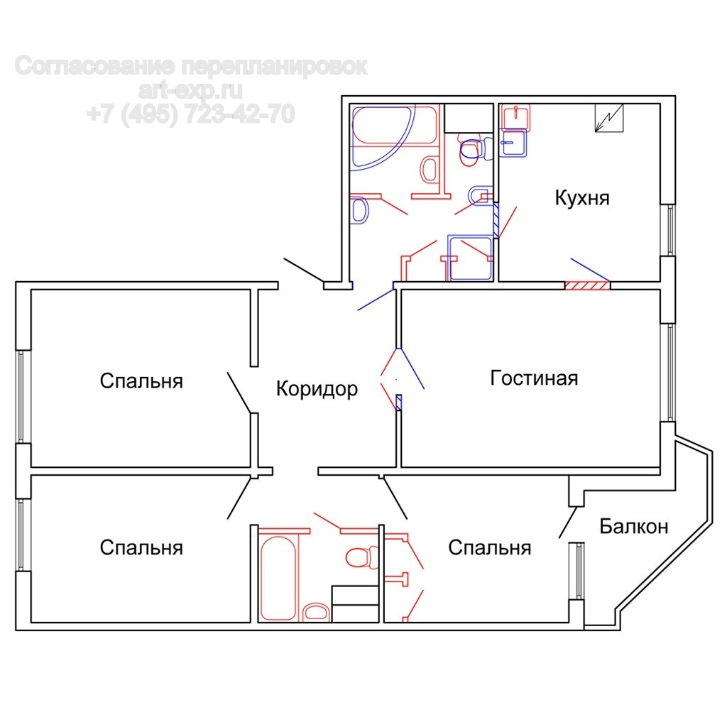Размеры балкона типа дома пд 4..