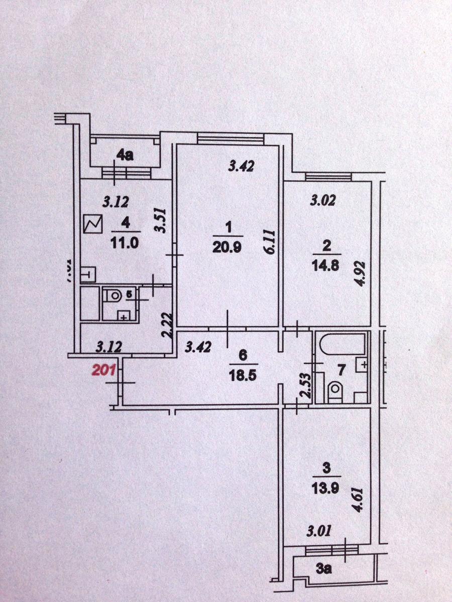 Серия дома п-3м cогласование перепланировки в москве.